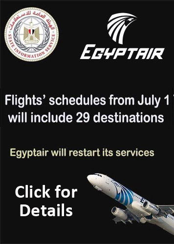 EgyptAir flies from 1 July 2020